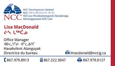 Lisa MacDonald - Office Manager